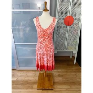 Athleta Dreamin Dress - Starfish Orange Reef Print